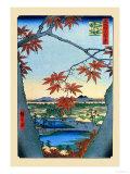 Ando Hiroshige - The Maple Trees - Sanat