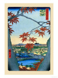 The Maple Trees Print by Ando Hiroshige