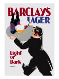 Barclay's Lager: Light or Dark Prints by Tom Purvis