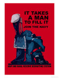 It Takes a Man to Fill It Art by Charles Stafford Duncan