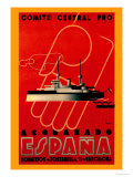 Comite Central Pro, Acorazado Espana Posters by Henry Ballesteros