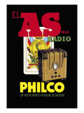 El as de la Radio, Philco Posters