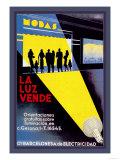 La Luz Vende Affischer av J. Cuellar