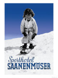 Sporthotel Saanenmoser: Little Girl Skiing Prints by Armin Reiber