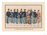 Uniforms of 10 Infantry Figures, 1899 Affiches par Arthur Wagner
