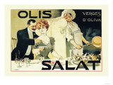 Olis Salat, Verges d&#39;Oliva Print by E. Norlind