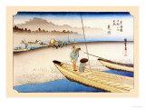 Tenryu River at Mitsuke Posters by Ando Hiroshige