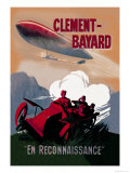 Clement-Bayard, French Dirigible Posters by Ernest Montaut