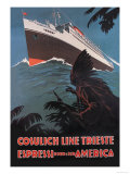 Trieste Cruise Line to North and South America Prints by A. Dondov