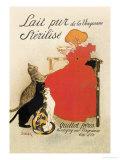Lait pur stérilisé de La Vingeanne Affiches par Théophile Alexandre Steinlen