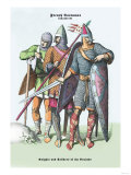 French Costumes: Knights and Soldiers of the Crusades Posters