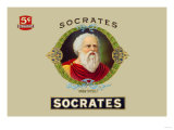 Socrates Cigars, Know Thyself Poster