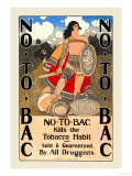 No-To-Bac Poster by Maxfield Parrish