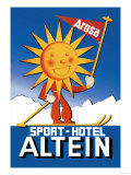 Sport Hotel Altein: Sun-Headed Skier Poster by Seiler