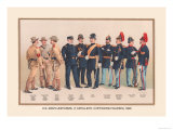 Uniforms of 7 Artillery and 3 Officers, 1899 Print by Arthur Wagner