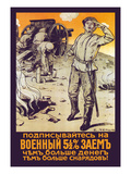 Subscribe for the 5 1/2 % Military Loan. Make Contribution to the Victory. Posters by Efim M. Cheptsov