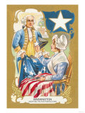 Washington Adopting a Five Pointed Star Prints