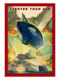 Lighter Than Air: Air Ship Traverses the Ocean Poster
