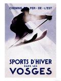 Sports d'Hiver dans les Vosges Posters by Lucien Serre