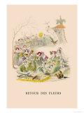 Retour des Fleurs Prints by J.J. Grandville