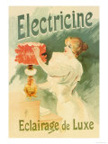 Electricine, Luxury Lighting Affischer av Lucien Lefevre