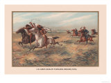 U.S. Army Pursuing Indians, 1876 Premium Giclee Print by Arthur Wagner
