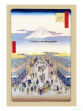 Merchants Print by Ando Hiroshige