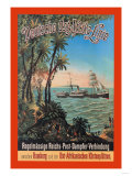German-East Africa Post Office Steamer Connection Prints