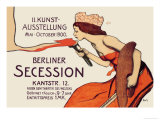 Berlin Art Exhibition, 1900 Posters by Wilhelm Schulz