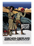 Winter Sport: Cross-Country Skiing Print