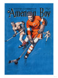 American Boy Hockey Cover Prints