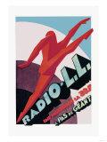 Radio, L.L.: Modern Running Man Print