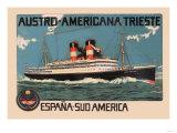 Austro-Americana Trieste Cruise Line Prints