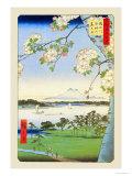 Ciliegi in fiore Stampa giclée premium di Ando Hiroshige
