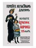 Help Poor Children. Buy the Red Egg on March 28 Poster von Sergei A. Vinogradov