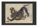 Monkey Fight Prints
