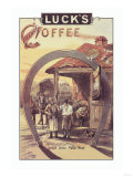 Luck's French Coffee Posters