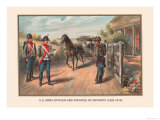 Officer and Privates of Infantry 1802-1810 Prints by Arthur Wagner