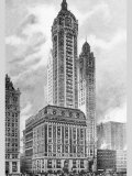 Singer Building, 1911 Print by Moses King