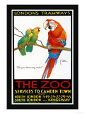 London's Tramways, The Zoo Posters by Lawson Wood