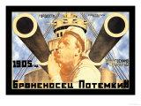 Battleship Potemkin 1905 Giclee-tryk i høj kvalitet af Anton Lavinsky