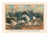 Cavalry Charge of the 5th Regulars, Gaines Mill 1862 Prints by Arthur Wagner