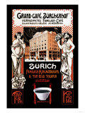 Grand-Cafe, Zurcherhof: Distinguished Family Cafe and Theater Print