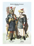 Polish and Russian Costumes: Lance Bearing and Armed Horsemen Posters