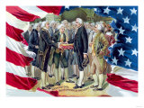 Washington&#39;s Inauguration as President Prints