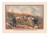 Siege and Barbette Guns, Fort Haskell, 1865 Prints by Arthur Wagner