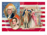 George Washington and Martha Curtis Prints