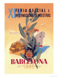XIV Official International Model Fair in Barcelona Posters by Martinez Bigorda
