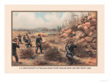 Infantry Attcking Snake River Indians near Owyhee River, 1880 Prints by Arthur Wagner