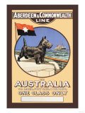 Aberdeen and Commonwealth Cruise Line to Australia Print